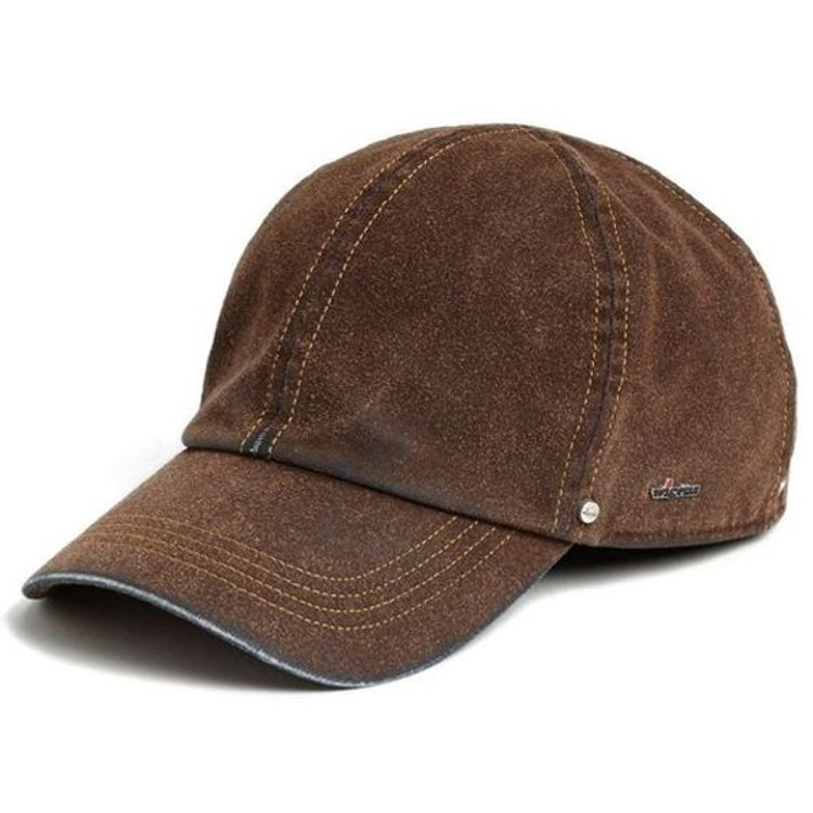 Fredrik  Brown Sueded Denim Baseball Cap with Earflaps (Size 56) by Wigens    ... 76905ced960