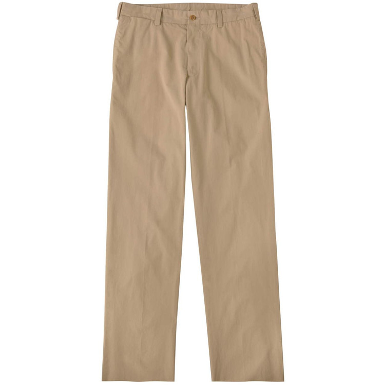 Tropical Poplin Pant - Model M2 Standard Fit Plain Front in Khaki by Bills Khakis