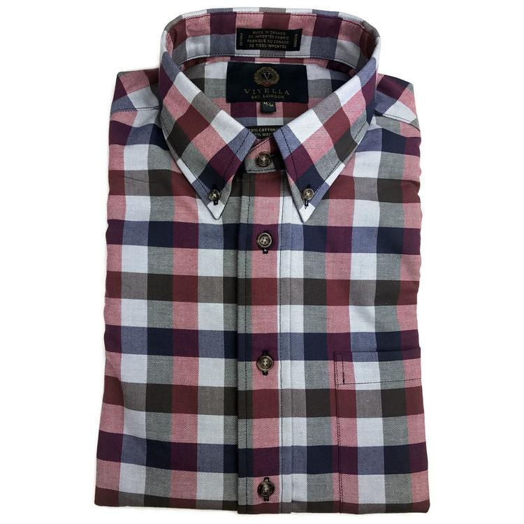 Cardinal Watch Tartan Shirt (Size Medium) by Viyella