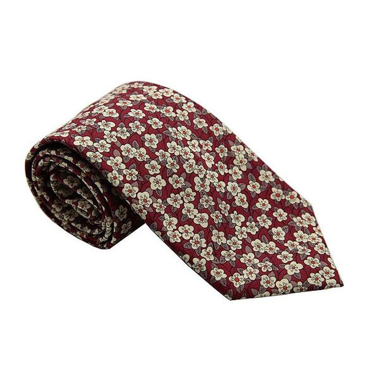 'Norfolk' Floral Lawn Cotton Tie by Trumbull Rhodes