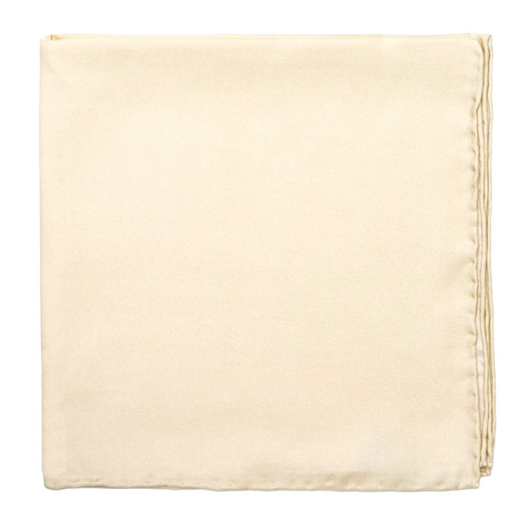 Solid Silk Pocket Square in Off White by Robert Talbott