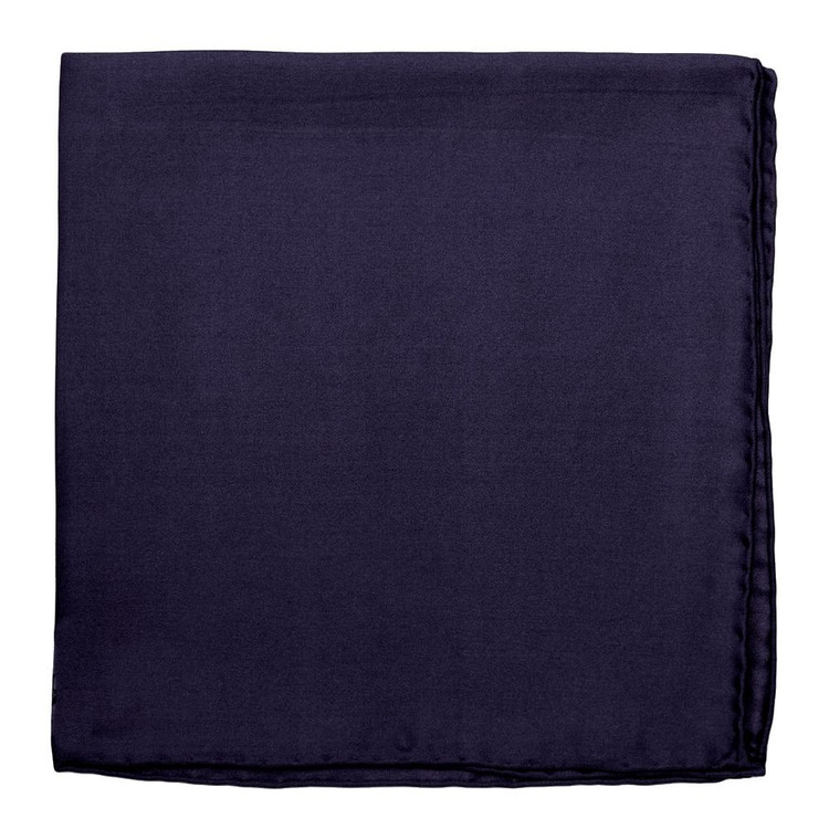 Solid Silk Pocket Square in Navy  by Robert Talbott