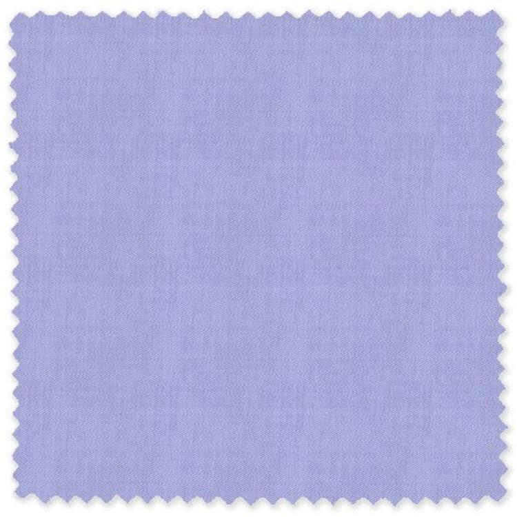 Blue Cotton Twill Custom Dress Shirt  by Skip Gambert