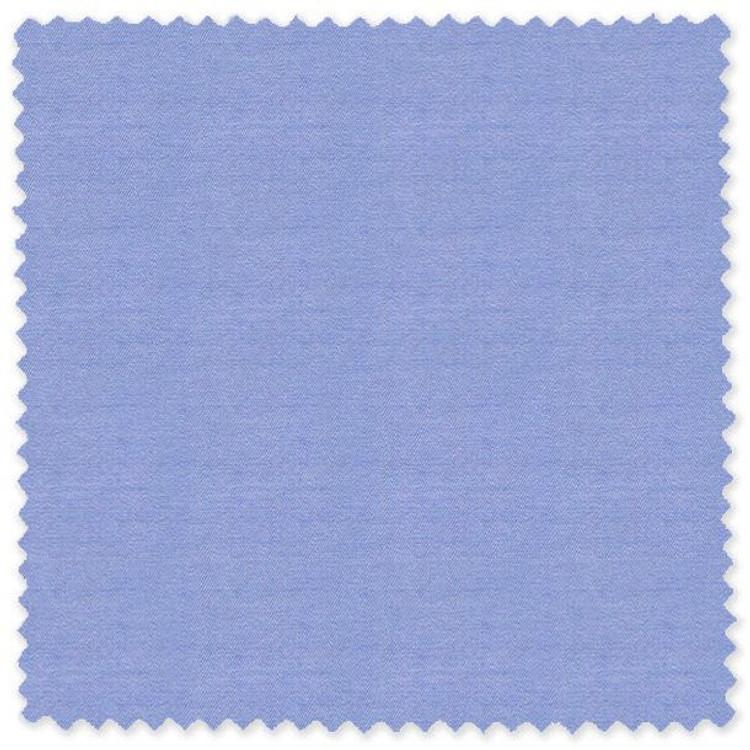Blue 'Classic 120's' Cotton Herringbone Custom Dress Shirt by Skip Gambert