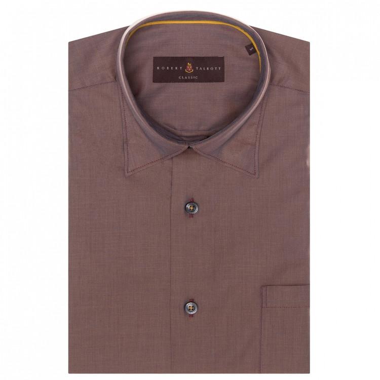 Beet Solid 'Anderson II' Sport Shirt by Robert Talbott