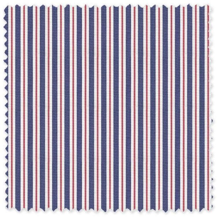 Navy and Red Stripe 'Grandi & Rubinelli' Cotton Broadcloth Custom Dress Shirt by Skip Gambert