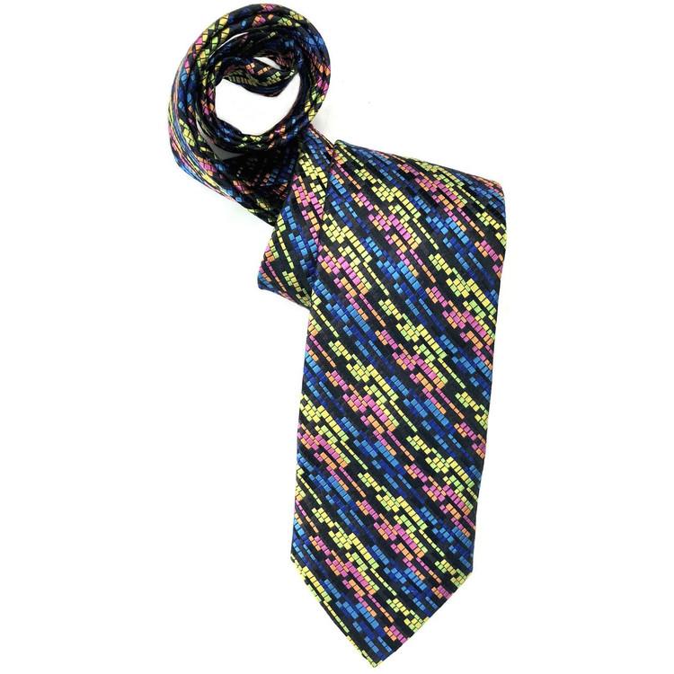 bebfa1acab97 Spring 2018 Best of Class Black and Multi Stripe 'Welch Margetson' Woven  Silk Tie by Robert Talbott - Hansen's Clothing