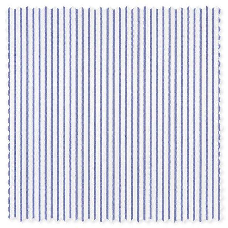 Blue Banker Stripe Custom Dress Shirt by Gitman Brothers