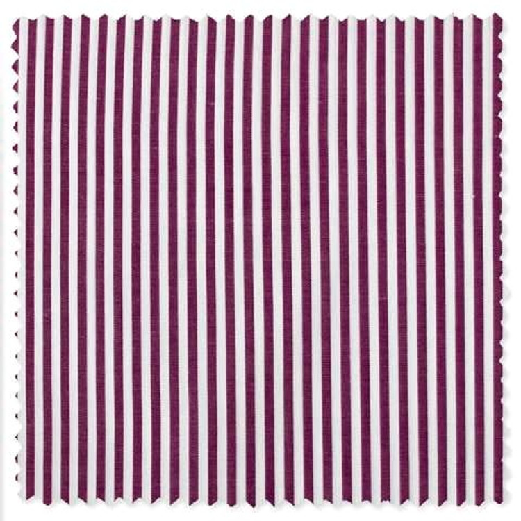 Classic Bengal Stripe Custom Dress Shirt in Burgundy by Gitman Brothers
