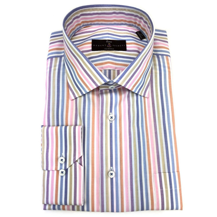 Celeste Zephir Stripe Estate Dress Shirt by Robert Talbott