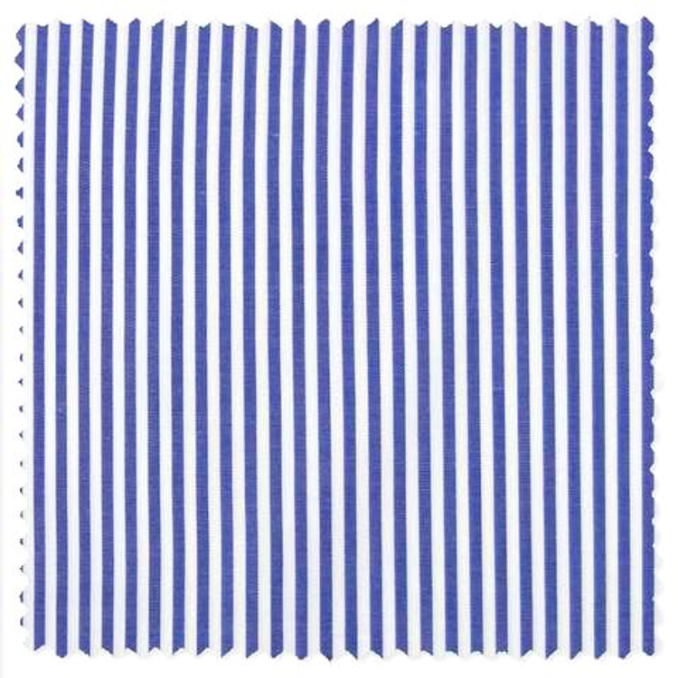 Albini Piumino Blue Bengal Stripe Custom Dress Shirt by Gitman Brothers