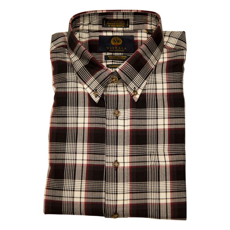 Birch Plaid Button-Down Shirt by Viyella