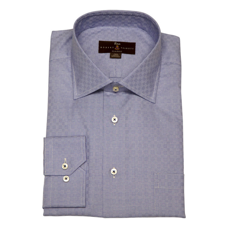 Royal Blue Estate Dress Shirt by Robert Talbott
