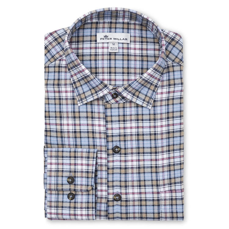 90c41b74ed51 Stribling Plaid Performance Stretch Sport Shirt in Cottage Blue by ...