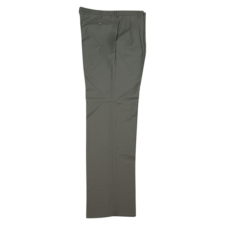 'Bennett' Super 120's Wool Serge Pant in Olive by Zanella