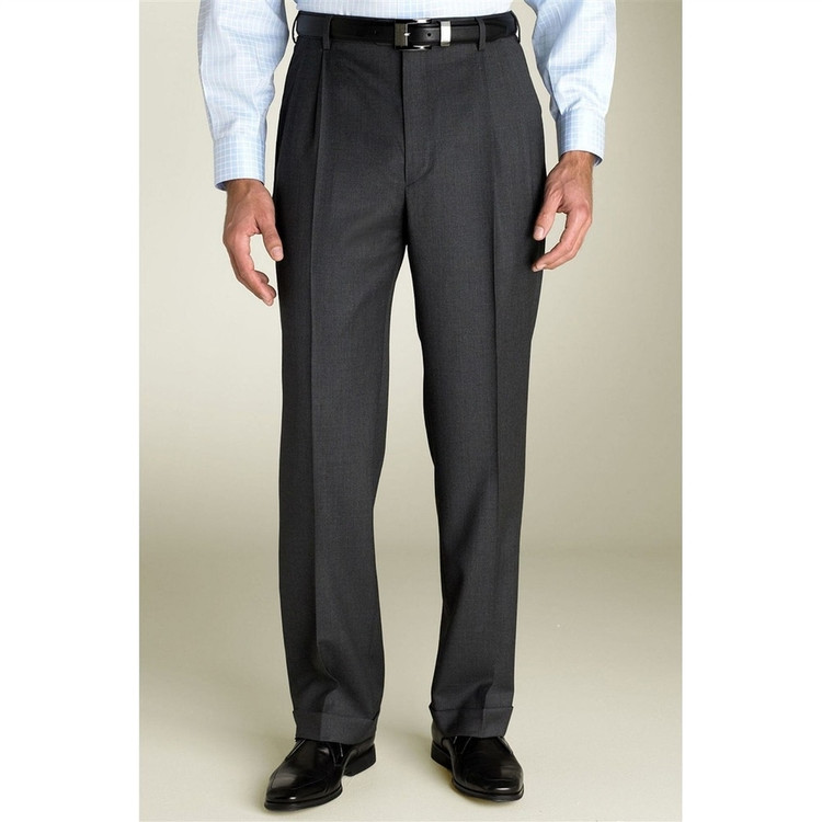 'Bennett' Classic Trouser in Dark Grey by Zanella