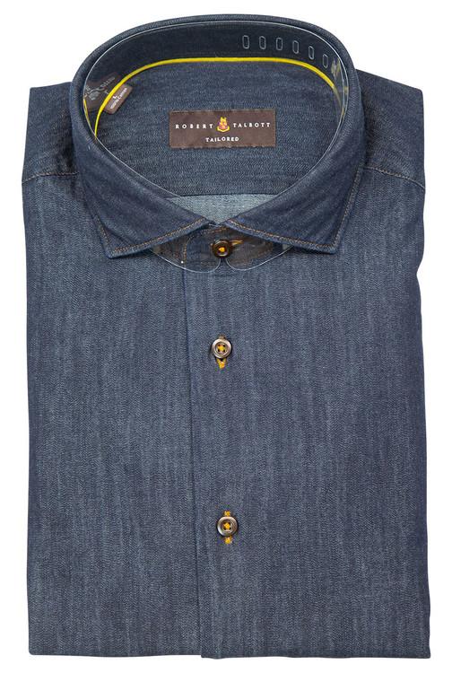 Indigo 'San Carlos - Tailored Fit' Sport Shirt by Robert Talbott