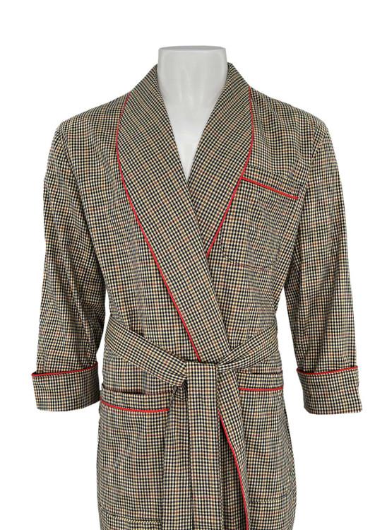 Gentleman's Cotton and Wool Blend Robe in Tan by Viyella