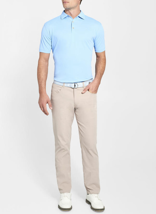 EB66 Performance Five-Pocket Pant in Khaki 'Crown Sport' by Peter Millar