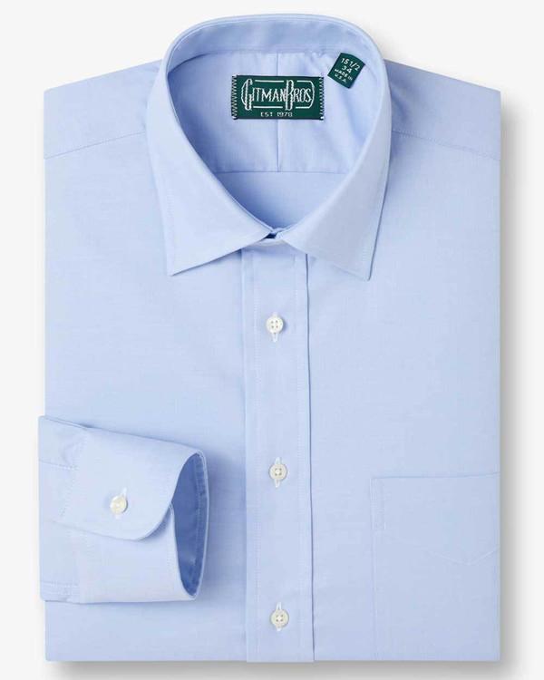 WEBA Stretch Dress Shirt with Medium Spread Collar in Blue by Gitman Brothers