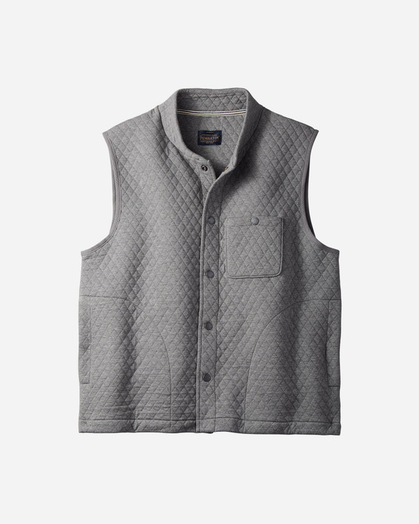 Quilted Knit Vest in Medium Grey Heather by Pendleton