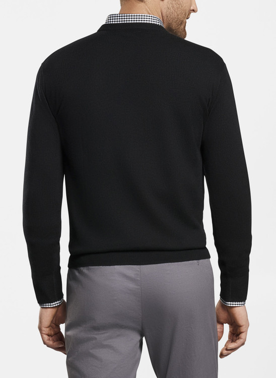 Crown Soft Crew Sweater in Black by Peter Millar