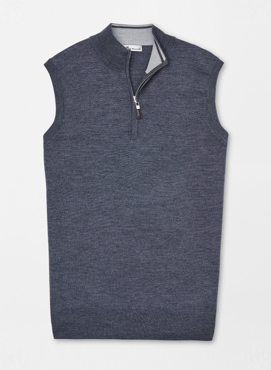 Crown Soft Quarter-Zip Vest in Charcoal by Peter Millar