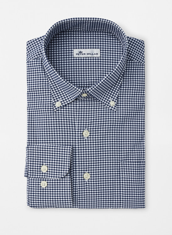 Mimi Performance Check Sport Shirt in Navy by Peter Millar