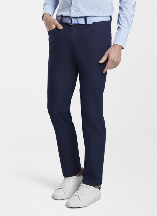 EB66 Performance Five-Pocket Pant in Navy 'Crown Sport' by Peter Millar