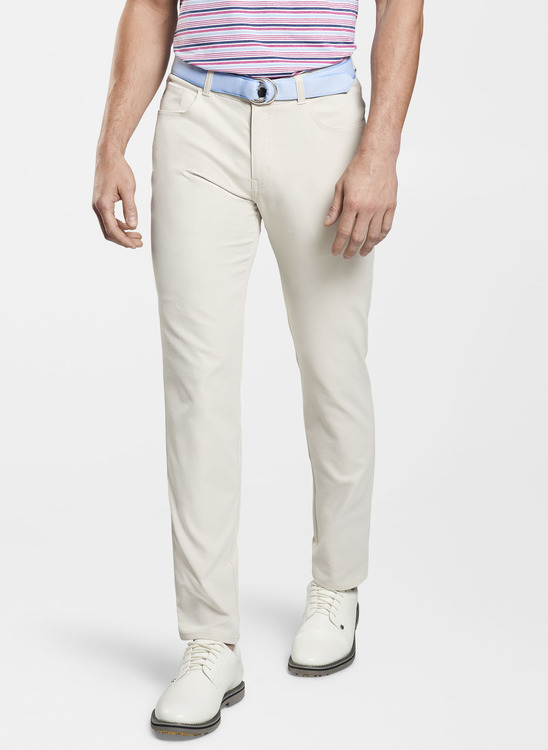 EB66 Performance Five-Pocket Pant in Stone 'Crown Sport' by Peter Millar