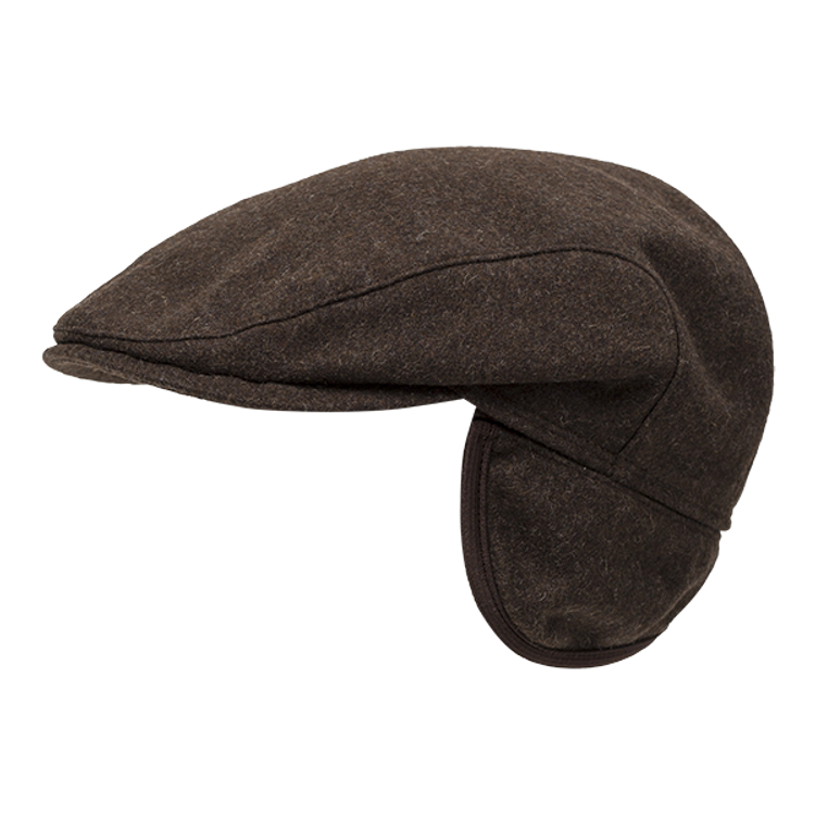 Melton Wool Ivy Slim Cap with Earflaps in Choice of Colors by Wigens