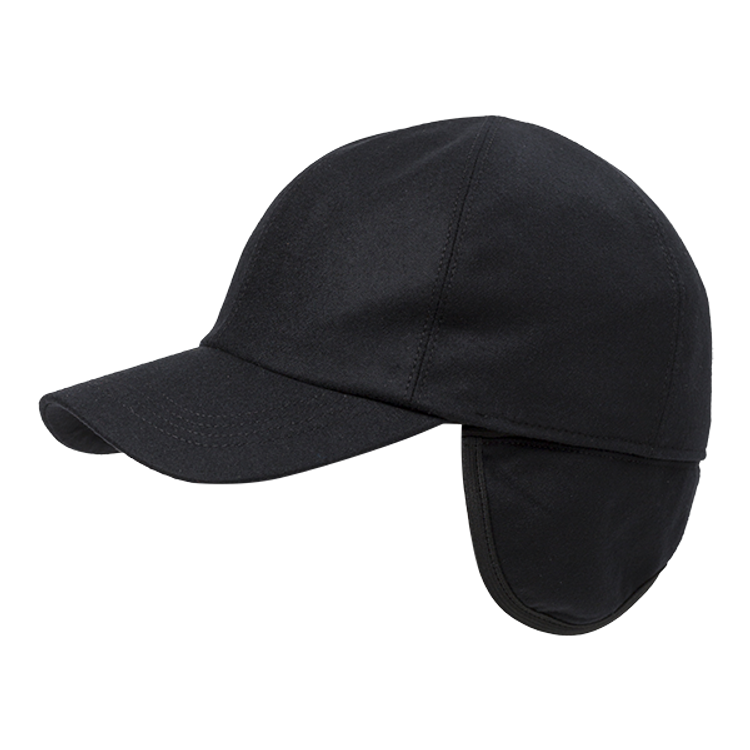 Light Wool Flannel Baseball Cap with earflaps in Choice of Colors by Wigens
