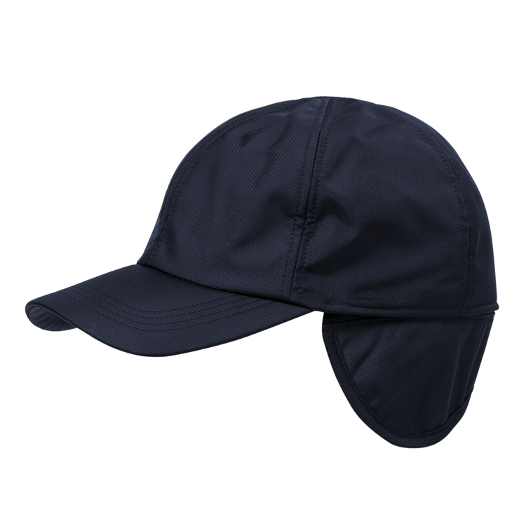 Soft Nylon Baseball Cap with earflaps in Choice of Colors by Wigens