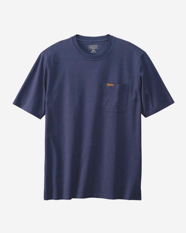Men's Short-sleeve Deschutes Pocket Tee in Navy by Pendleton