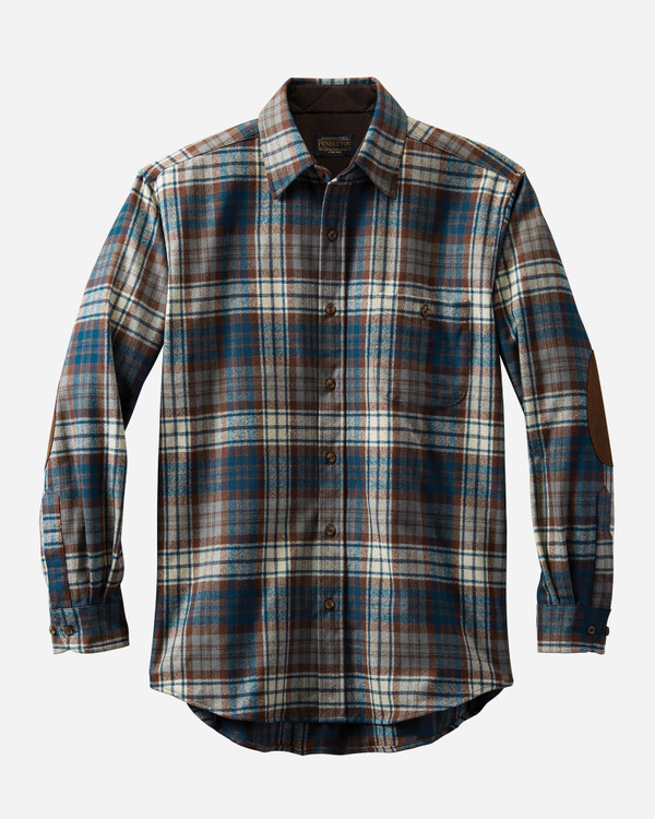 Elbow-Patch Trail Shirt in Macdonald Blue Tartan by Pendleton