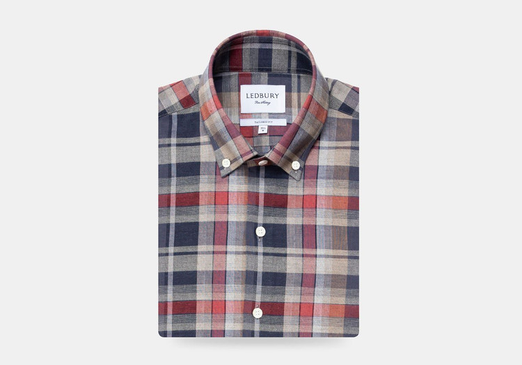 The Cedar Kerley Plaid Casual Shirt by Ledbury