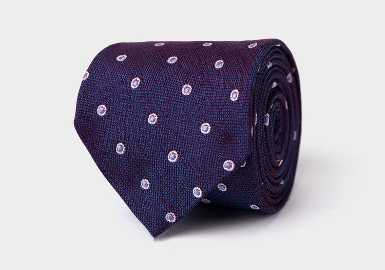 The Plum Cadogan Tie by Ledbury
