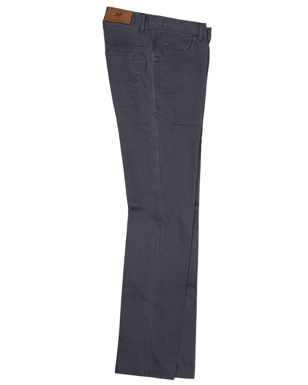 Five Pocket - Straight Fit - T400 Stretch Broken Twill in Graphite (38 x 34) by Bills Khakis