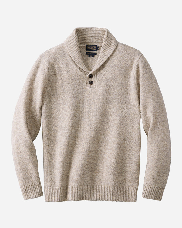 Shetland Shawl Collar Sweater in Oat Heather by Pendleton