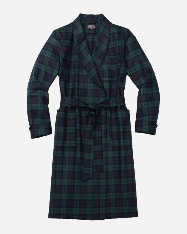 Washable Whisperwool Lounge Robe in Black Watch Tartan by Pendleton