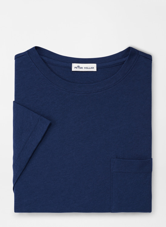 Seaside Summer Soft Pocket Tee in Atlantic Blue by Peter Millar