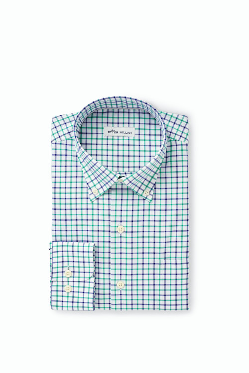 Crown Ease Emory Sport Shirt in Blue Lapis by Peter Millar