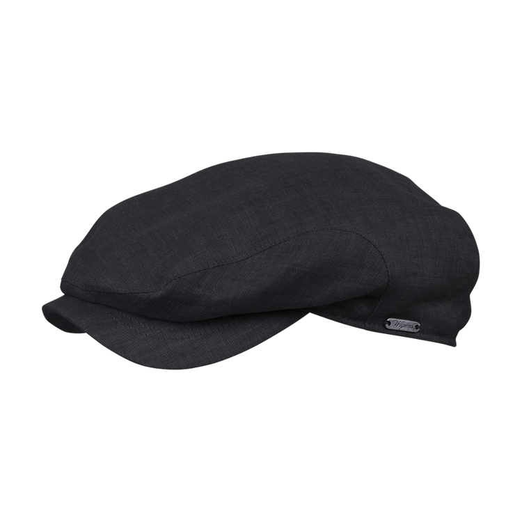 Classic Linen Ivy Classic Cap in Black by Wigens