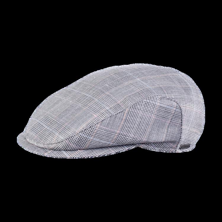 Glencheck Ivy Slim Cap in Light Grey by Wigens