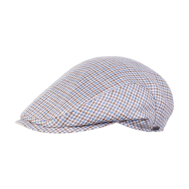 Houndstooth Ivy Slim Cap in Light Brown by Wigens