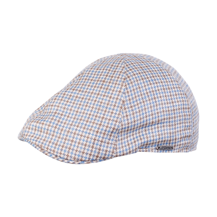 Houndstooth Pub Cap in Light Brown by Wigens