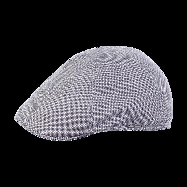 Two Tone Linen Pub Cap in Grey by Wigens
