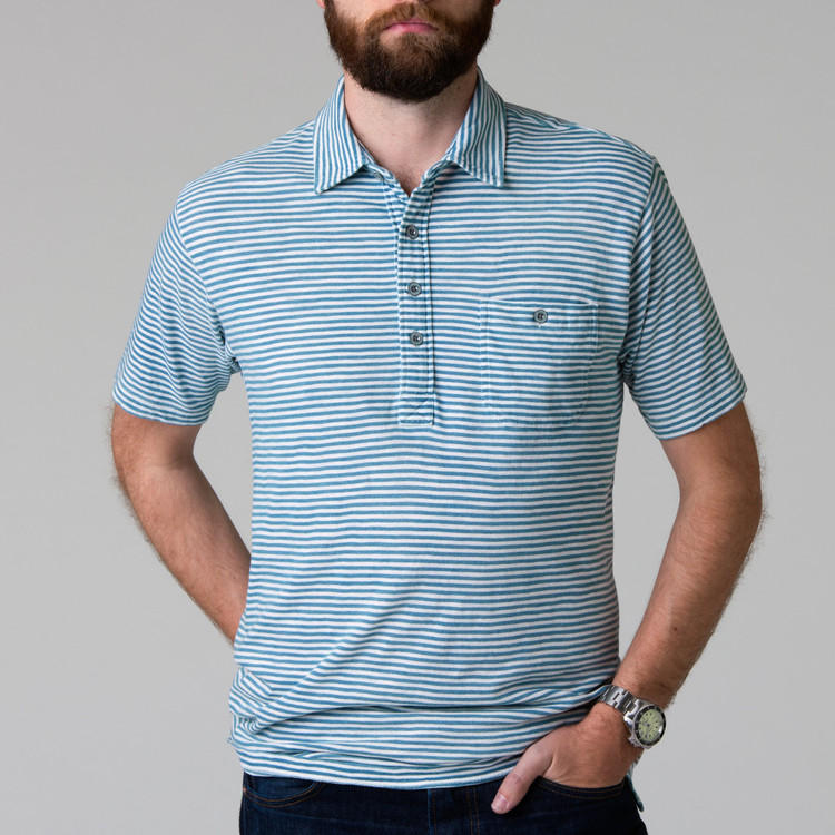 Harbor Polo in Indigo and White by H. Goose