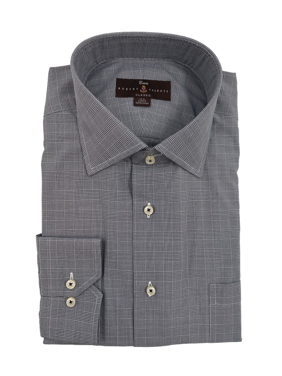 Navy Estate Dress Shirt by Robert Talbott