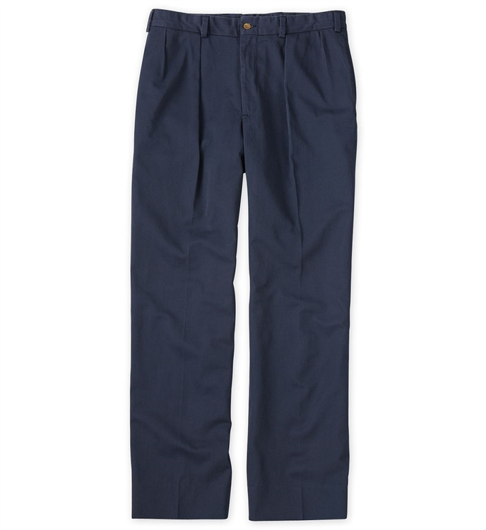Montgomery Stretch Twill Pant(Size 38x32.5 - Model M1RP Relaxed Fit Reverse Pleat in Navy by Bills Khakis